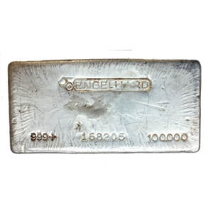 Engelhard 100 oz Bar